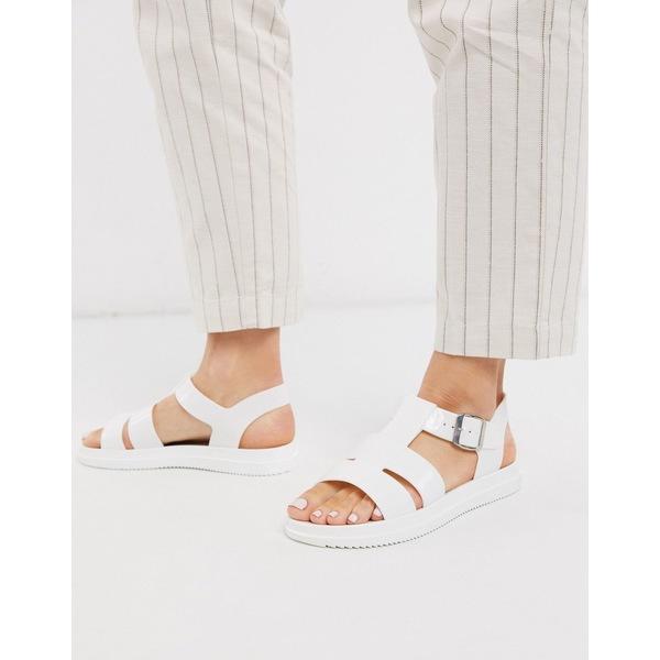 ロンドンレベル レディース サンダル シューズ London Rebel gladiator jelly sandal in white White