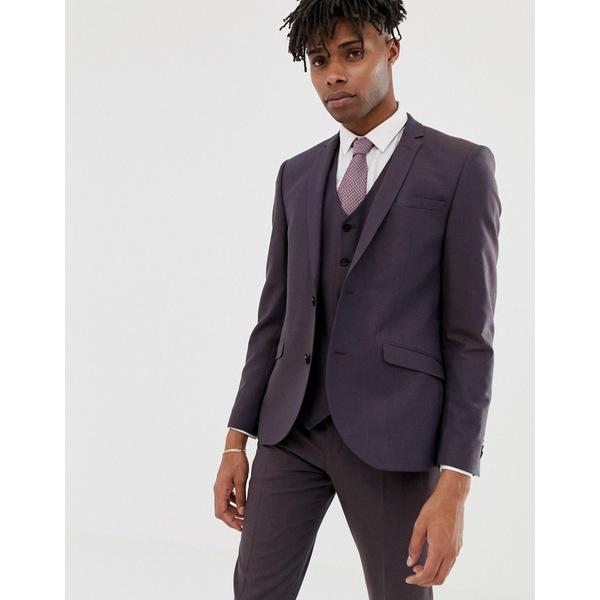 ハートアンドダガー メンズ ジャケット&ブルゾン アウター Heart & Dagger slim suit jacket in brown Brown