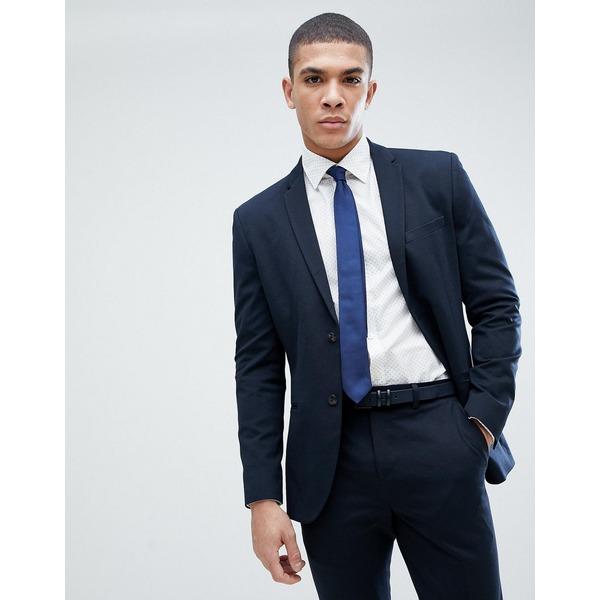 ジャック アンド ジョーンズ メンズ ジャケット&ブルゾン アウター Jack & Jones Premium slim fit suit jacket in navy Dark navy