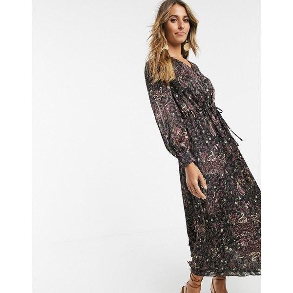 アンドアザーストーリーズ レディース ワンピース トップス & Other Stories wrap front maxi dress in paisley print Dark pasley