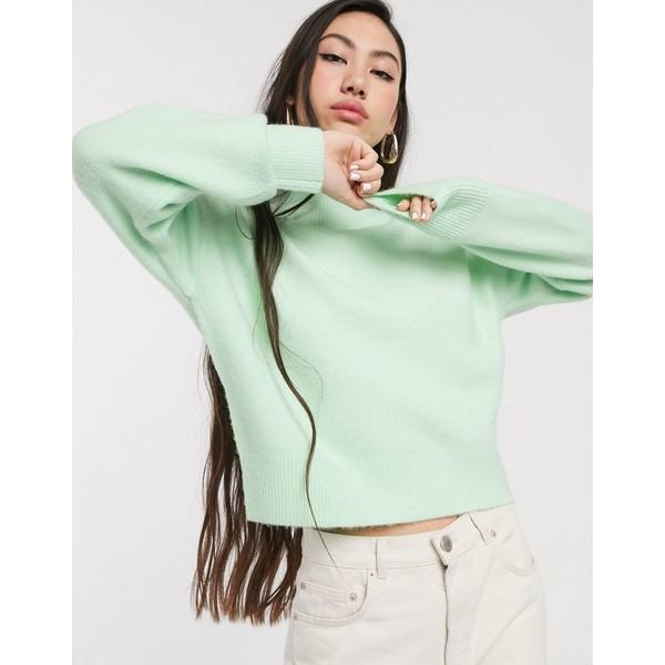 アンドアザーストーリーズ レディース ニット&セーター アウター & Other Stories high neck sweater in pastel green Pastel green