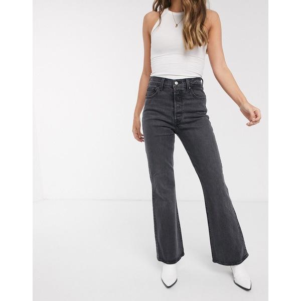リーバイス レディース デニムパンツ ボトムス Levi's Ribcage flare jeans in black Black