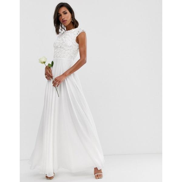 エイソス レディース ワンピース トップス ASOS EDITION embellished bodice wedding dress Ivory