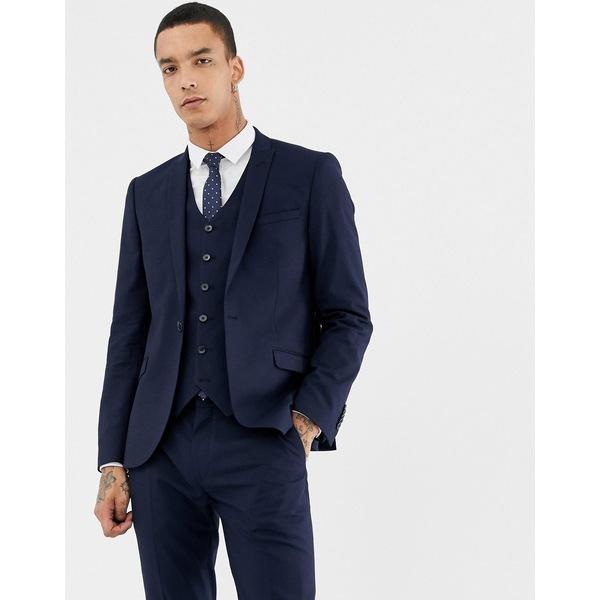 ハートアンドダガー メンズ ジャケット&ブルゾン アウター Heart & Dagger skinny suit jacket Navy