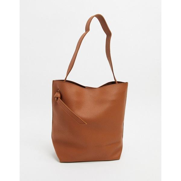フレンチコネクション レディース トートバッグ バッグ French Connection mottled leather tote bag Brown