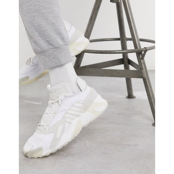 アディダスオリジナルス メンズ スニーカー シューズ adidas Originals Streetball hi top sneakers in white Wh1 - white 1