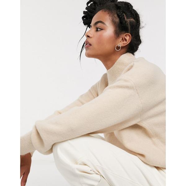 アンドアザーストーリーズ レディース ニット&セーター アウター & Other Stories compact yarn drop shoulder sweater in cream Cream