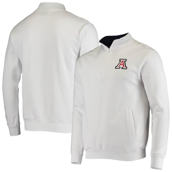 コロシアム メンズ ジャケット&ブルゾン アウター Arizona Wildcats Colosseum Tortugas Logo QuarterZip Jacket Heathered Gray