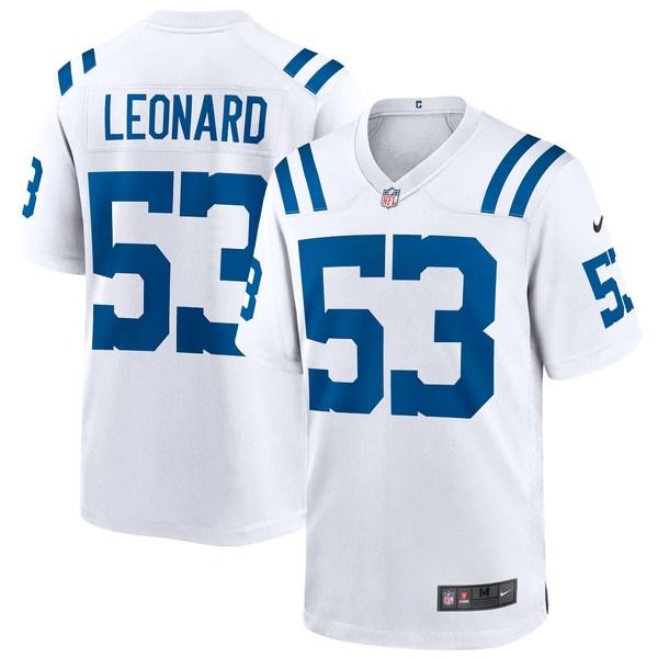 ナイキ メンズ ユニフォーム トップス Darius Leonard Indianapolis Colts Nike Game Player Jersey White