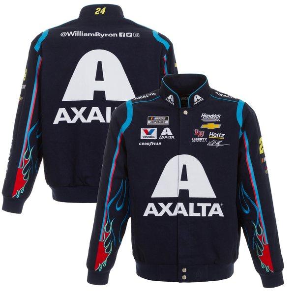 ジェイエイチデザイン メンズ ジャケット&ブルゾン アウター William Byron JH Design Axalta FullSnap Twill Uniform Jacket Navy