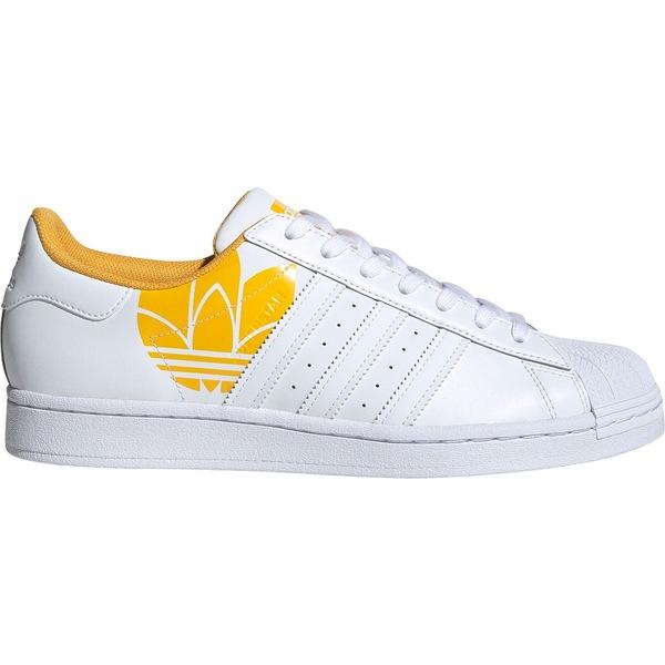 アディダス メンズ スニーカー シューズ adidas Men's Superstar Print Shoes White/White/Gold