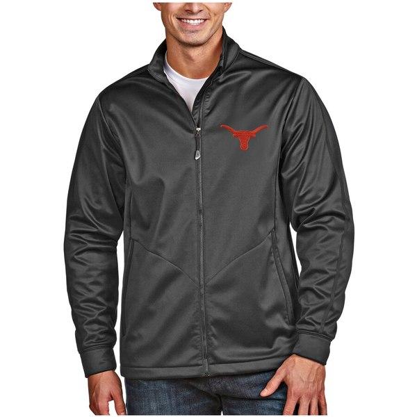 アンティグア メンズ ジャケット&ブルゾン アウター Texas Longhorns Antigua Golf Full Zip Jacket Anthracite