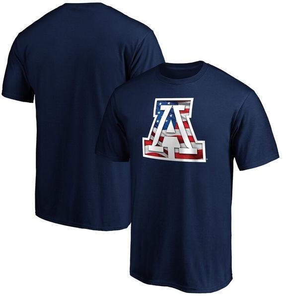 ファナティクス メンズ Tシャツ トップス Arizona Wildcats Fanatics Branded Banner Wave T-Shirt Navy:asty