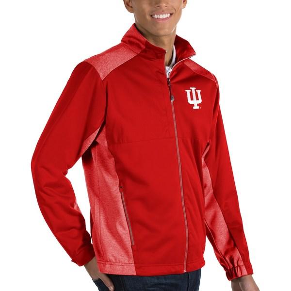 アンティグア メンズ ジャケット&ブルゾン アウター Indiana Hoosiers Antigua Revolve Full-Zip Jacket Crimson