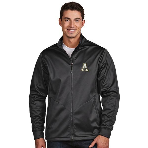 アンティグア メンズ ジャケット&ブルゾン アウター Appalachian State Mountaineers Antigua Golf Full-Zip Jacket Charcoal