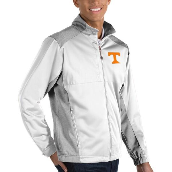 アンティグア メンズ ジャケット&ブルゾン アウター Tennessee Volunteers Antigua Revolve Full-Zip Jacket White