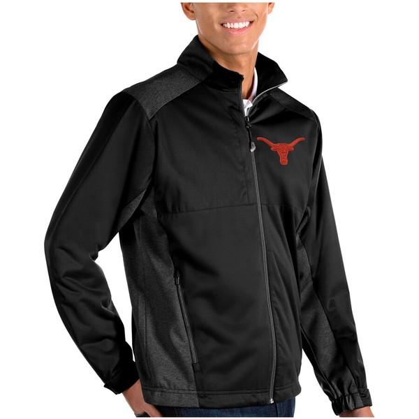 アンティグア メンズ ジャケット&ブルゾン アウター Texas Longhorns Antigua Revolve Full-Zip Jacket Black