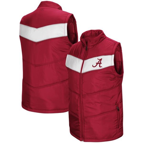 コロシアム メンズ ジャケット&ブルゾン アウター Alabama Crimson Tide Colosseum Red Beaulieu Puff Full-Zip Vest Crimson
