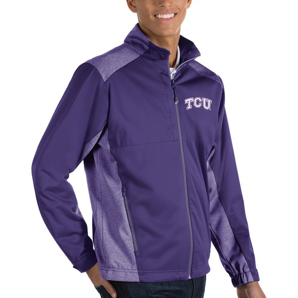 アンティグア メンズ ジャケット&ブルゾン アウター TCU Horned Frogs Antigua Revolve Full-Zip Jacket Purple