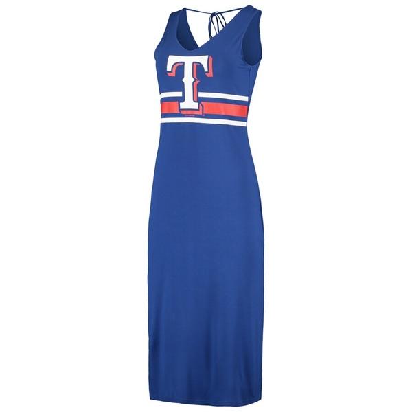 カールバンクス レディース ワンピース トップス Texas Rangers G-III 4Her by Carl Banks Women's Opening Day Maxi Dress Royal/Red