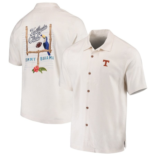 トッミーバハマ メンズ シャツ トップス Texas Longhorns Tommy Bahama Tailgate Club Button-Up Shirt White