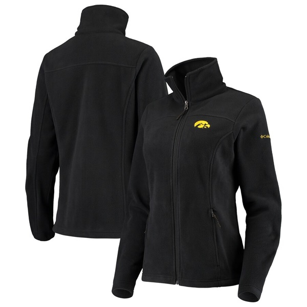 コロンビア レディース ジャケット&ブルゾン アウター Iowa Hawkeyes Columbia Women's Give & Go II Fleece Full-Zip Jacket Black