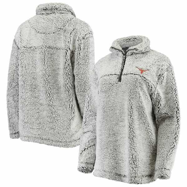 カールバンクス レディース ジャケット&ブルゾン アウター Texas Longhorns G-III Sports by Carl Banks Women's Super Soft Sherpa Quarter-Zip Pullover Jacket Charcoal