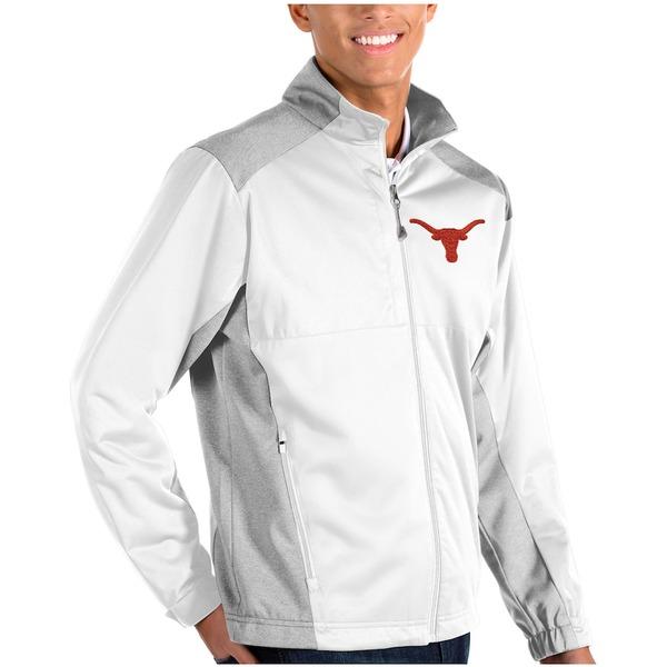 アンティグア メンズ ジャケット&ブルゾン アウター Texas Longhorns Antigua Revolve Full-Zip Jacket White