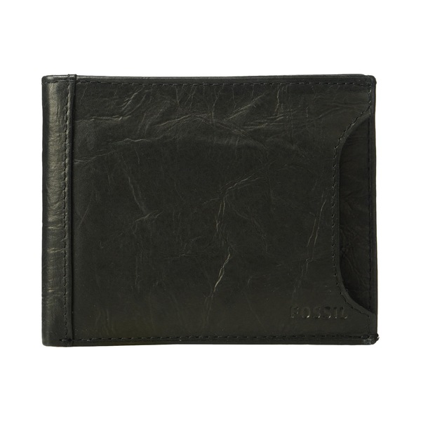 フォッシル メンズ 財布 アクセサリー Neel Sliding 2-in-1 Wallet Black
