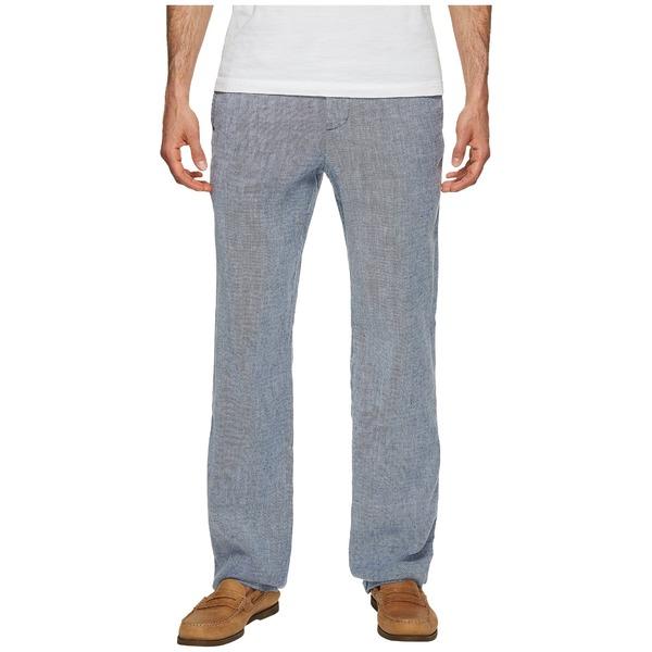 トッミーバハマ メンズ カジュアルパンツ ボトムス Beach Linen Elastic Waist Pants Maritime
