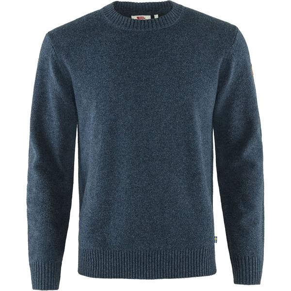 フェールラーベン メンズ アウター ニットセーター Navy 販売 全商品無料サイズ交換 Men's Sweater (訳ありセール 格安) - Round-Neck Ovik