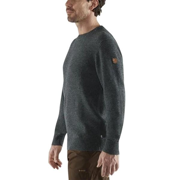 訳あり品送料無料 フェールラーベン メンズ 人気激安 アウター ニットセーター Dark Grey - 全商品無料サイズ交換 Ovik Men's Sweater Round-Neck