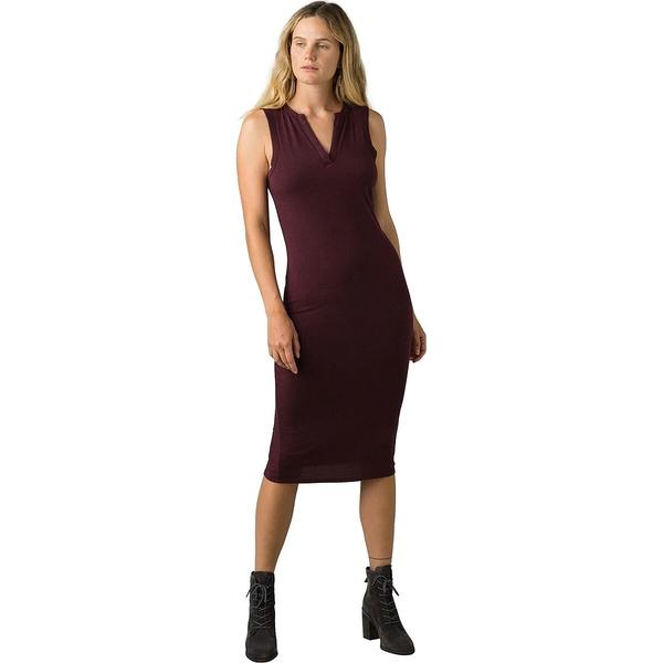 プラーナ 入手困難 レディース トップス ワンピース Raisin Heather 開催中 全商品無料サイズ交換 Midi Dress - Foundation Women's