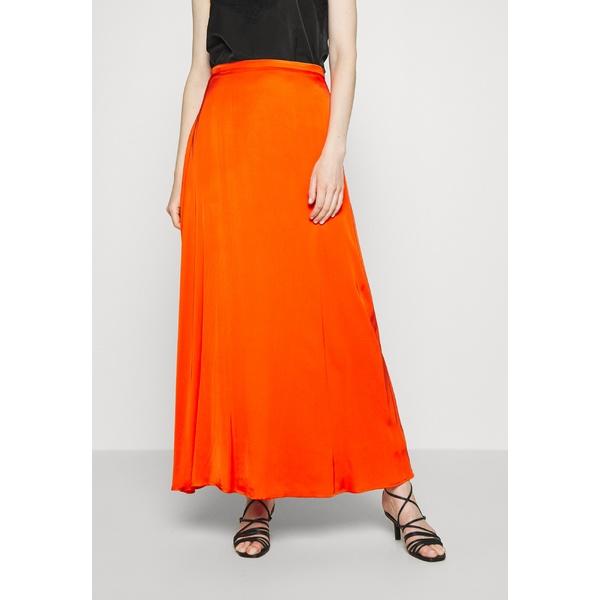 エスプリ レディース ボトムス 現品 スカート red orange 全商品無料サイズ交換 DRAPE qscn01a2 skirt - Maxi 人気上昇中