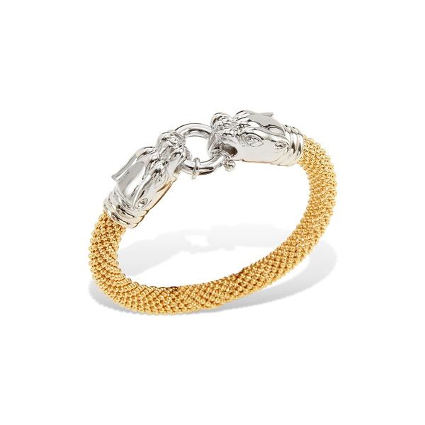 サビーシー レディース アクセサリー ブレスレット バングル アンクレット 販売 YELLOW 全商品無料サイズ交換 Bracelet 18K Head Mesh Gold Two-Tone Plated Panther 現金特価