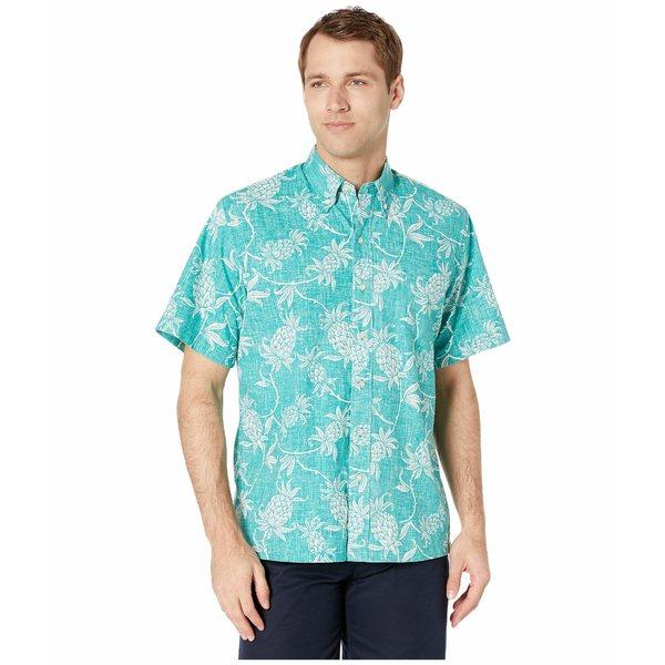 レインスプーナー メンズ シャツ トップス Aloha Welcome Classic Fit Teal Blue