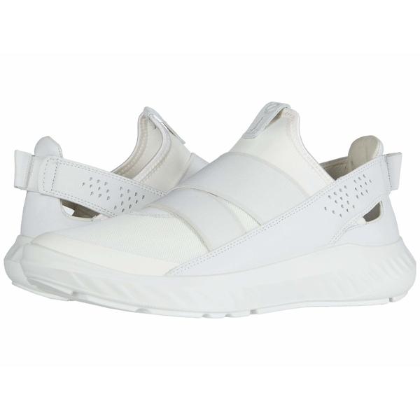 エコー レディース スニーカー シューズ ST.1 Lite Slip-On White/White/White Textile/Textile/Cow Leather