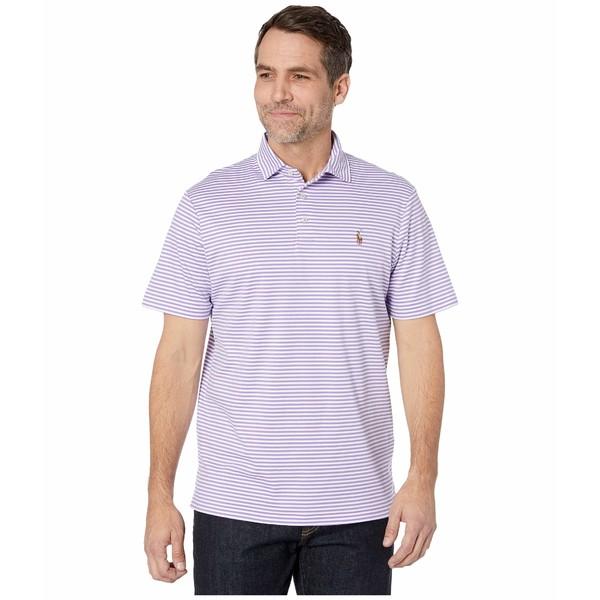 ラルフローレン メンズ シャツ トップス Classic Fit Soft Touch Polo Hampton Purple/White
