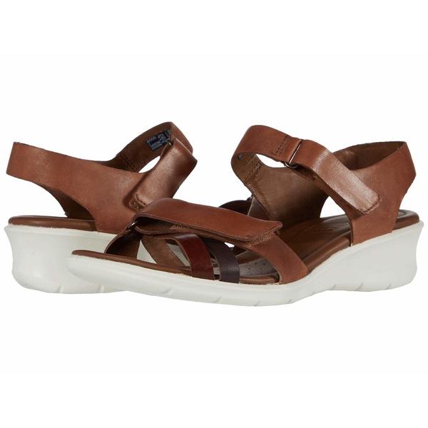 エコー レディース ヒール シューズ Felicia Ankle Strap Sandal Brandy/Coffee/Mahogany Calf Leather/Cow Leather/Cow Nubuck