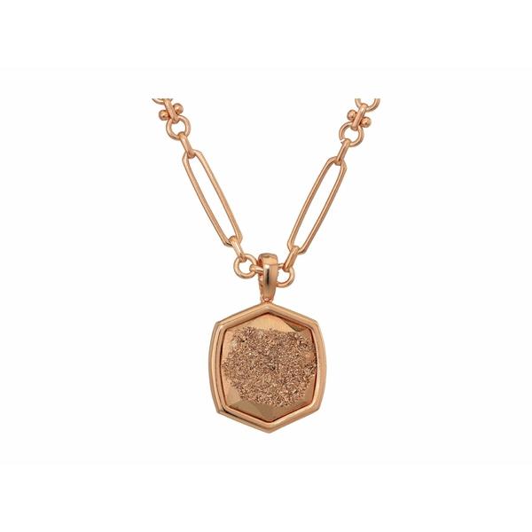 ケンドラスコット レディース ネックレス・チョーカー・ペンダントトップ アクセサリー Davis Short Pendant Necklace Rose Gold/Rose Gold Drusy