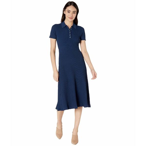 ジェイソンウー レディース ワンピース トップス Short Sleeve Knit Polo Dress True Navy
