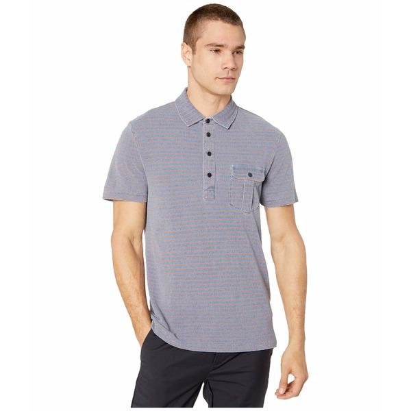 ジェイクルー メンズ シャツ トップス Indigo Pique Passyunk Stripe Short Sleeve Pocket Polo Indigo Brick Passyunk Stripe