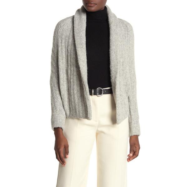 ニット&セーター Textured Collar アウター ヴィンス SOFT GREY Shawl Knit レディース Cardigan