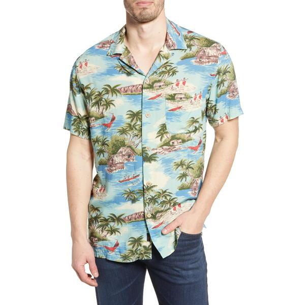 ファエティ メンズ シャツ トップス Regular Fit Camp Shirt Kapalua Bay