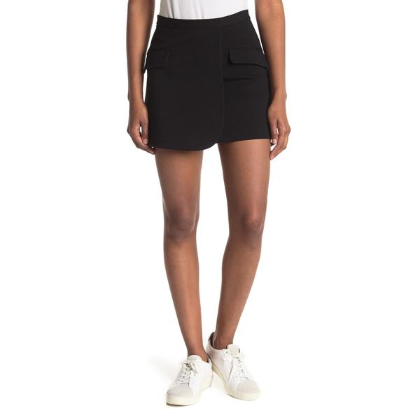 セオリー レディース 正規逆輸入品 ボトムス スカート BLACK Skirt Mini 全商品無料サイズ交換 特別セール品 Monro Wrap