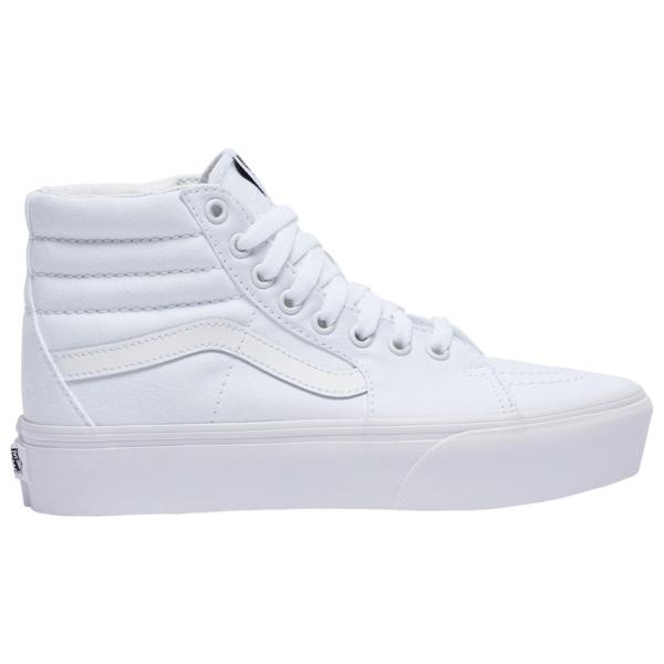 バンズ レディース スニーカー シューズ SK8Hi Platform 2.0 True White/True White