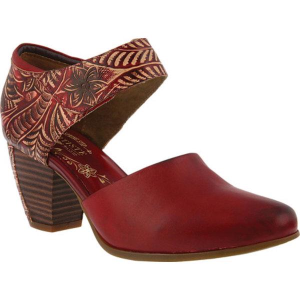 スプリングステップ レディース サンダル シューズ Toolie Heeled Mary Jane Red Leather