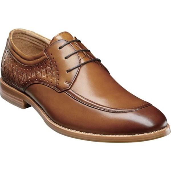 ステイシーアダムス メンズ ドレスシューズ シューズ Fielding Moc Toe Oxford Tan Smooth Leather
