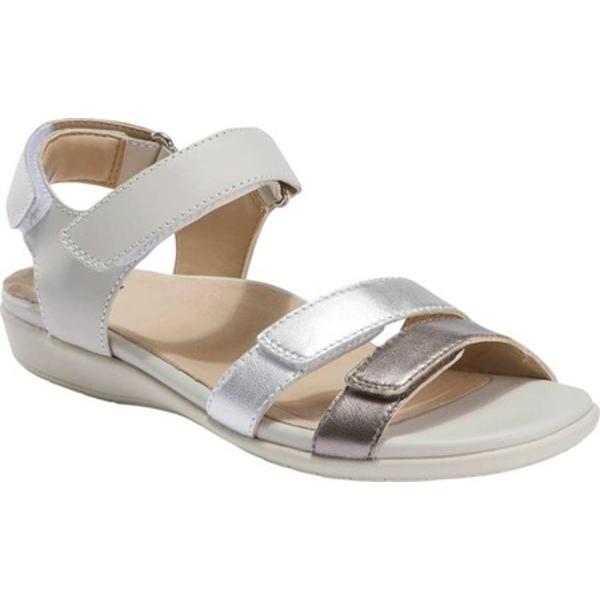 アース レディース サンダル シューズ Alder Amal Active Sandal Sand White Multi Calfskin