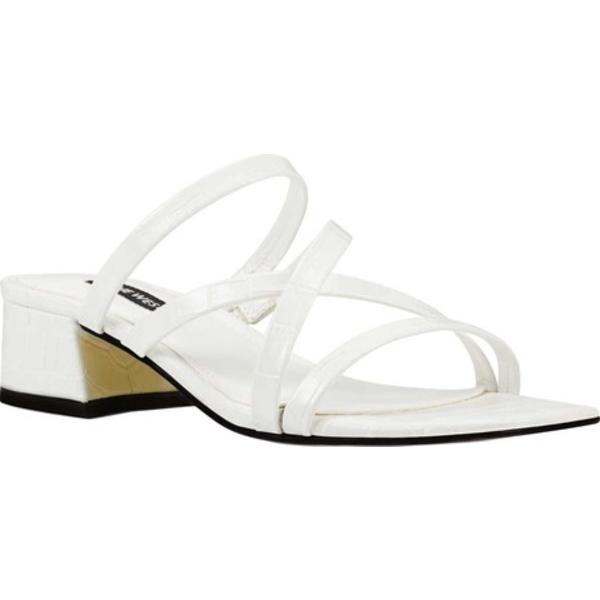 ナインウェスト レディース サンダル シューズ Remy3 Strappy Sandal White Croco Faux LeatherFJKcTl1